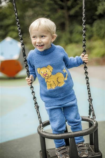 1418: Modell 2 Løveungen genser og bukse  #Karsten #Petra #Løveungen #FrøkenKanin #strikk