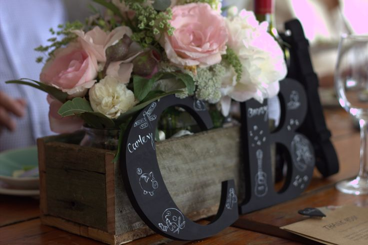 Wedding decor initials