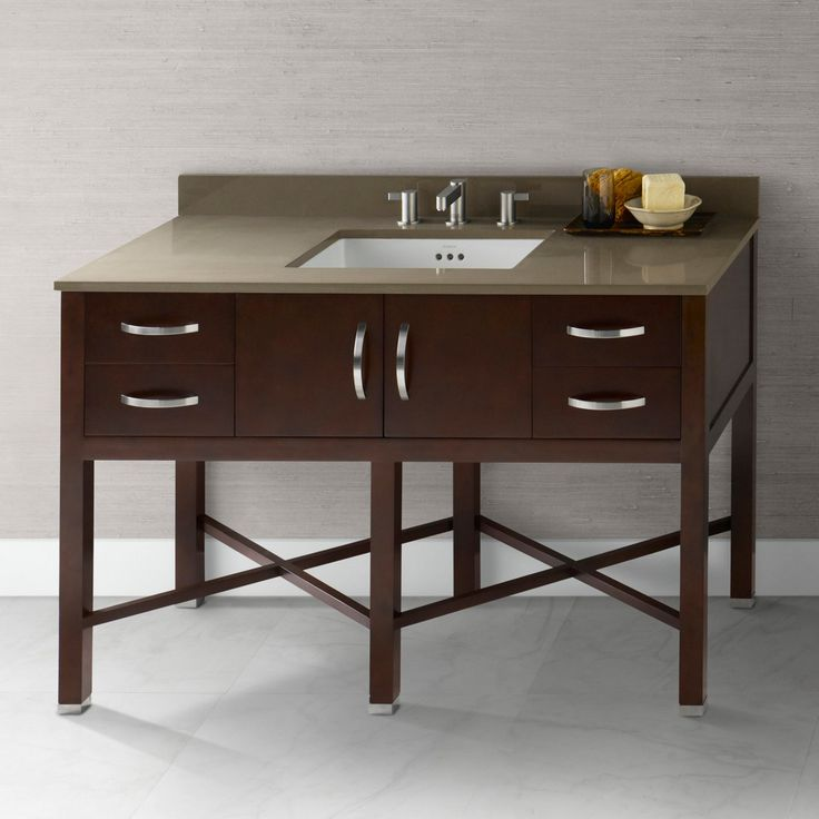 Ronbow 035948-H01 Haley 48 in. Single Bathroom Vanity with .75 in. Top - RON682