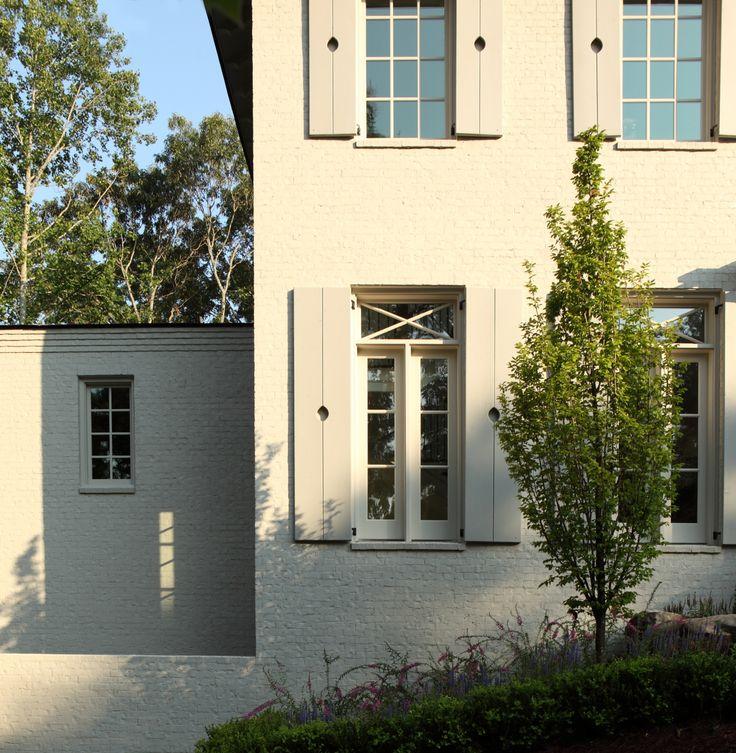 Shutter and window details. Hedgewood custom home.