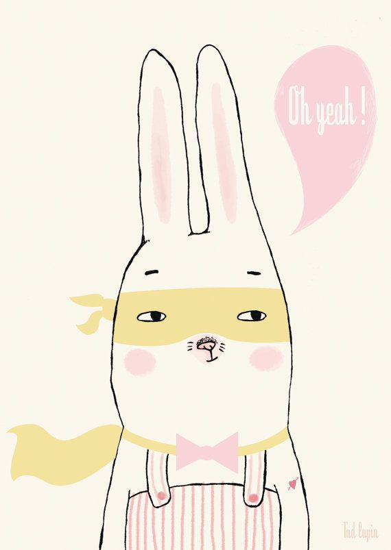 """Oh yeah !"" tad lapin card"