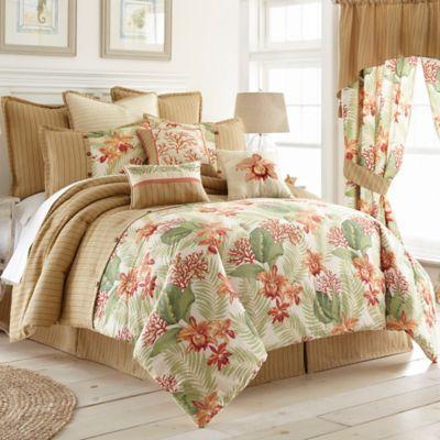 Coral Beach Comforter Set - BedBathandBeyond.com