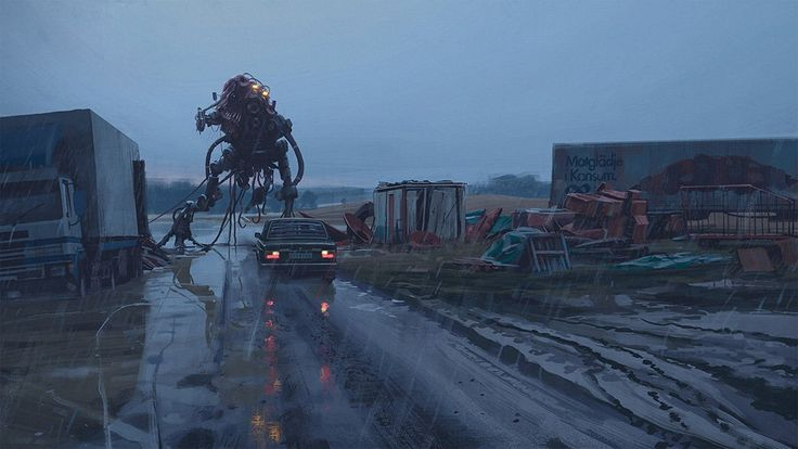 "Matt Haughey on Twitter: ""retro-futurist paintings by @simonstalenhag from a few years back are still awesome. https://t.co/TkN28uTYbY"""