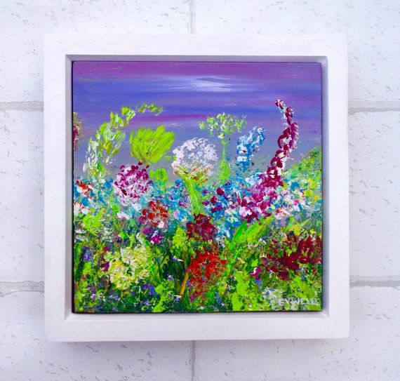 Hey, I found this really awesome Etsy listing at https://www.etsy.com/uk/listing/497551725/flower-painting-floral-wall-decor-purple