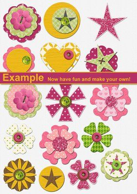 Make your own scrapbook embellishments using this simple template ♥