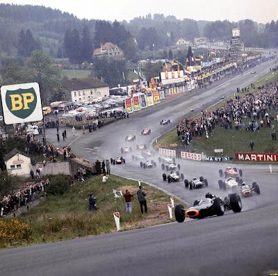 Eau Rouge at Spa Francorchamps 1965 - the greatest corner on the greatest track.