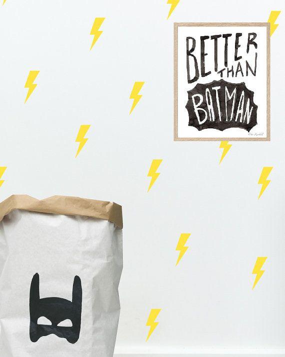 Lightning decal Bolt vinyl wall stickers Super hero by StudioPicco