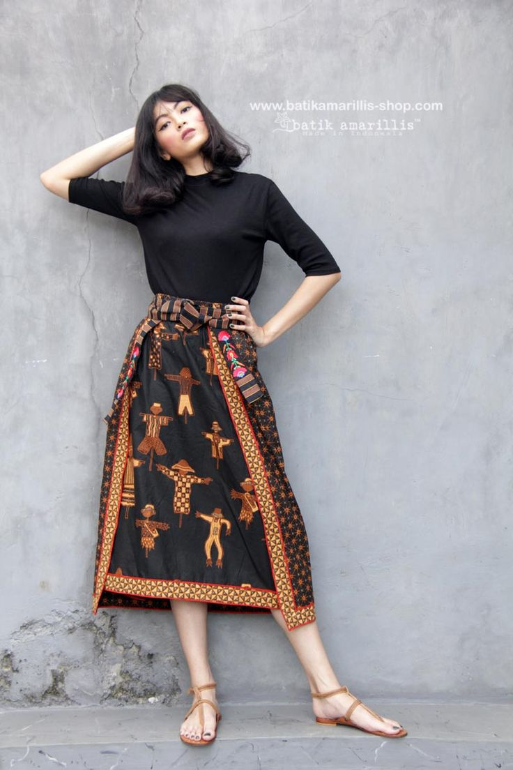 Batik Amarillis made in Indonesia proudly presents Batik Amarillis's La Romaine skirt , it's Romanian folk costume inspired , such  gorgeous and unique skirt  which either can be worn from front side or back side , both look equally beautiful!!