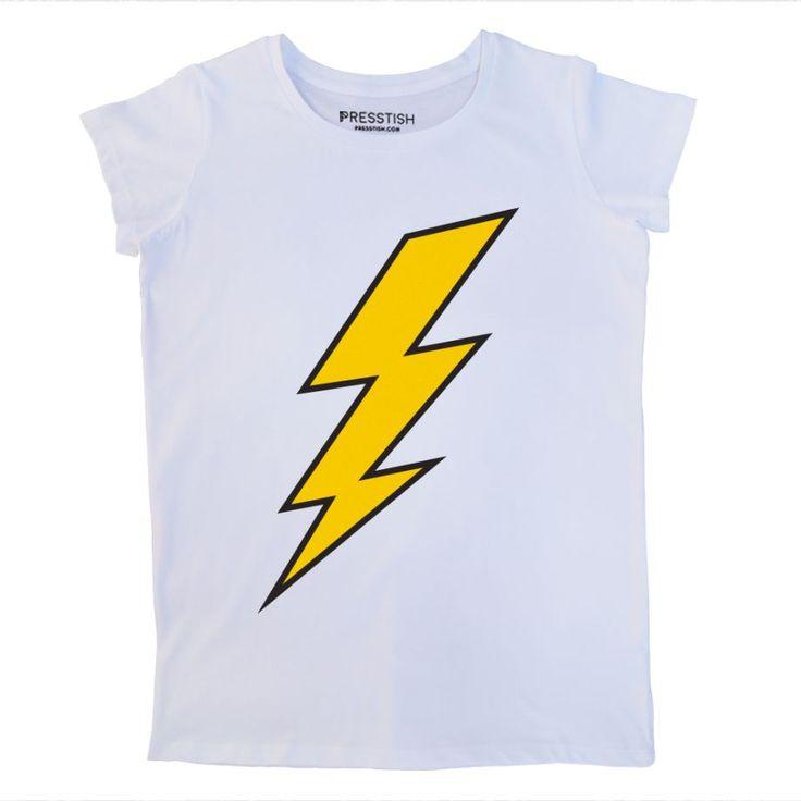 Thunder - Beyaz Kadın Tişört