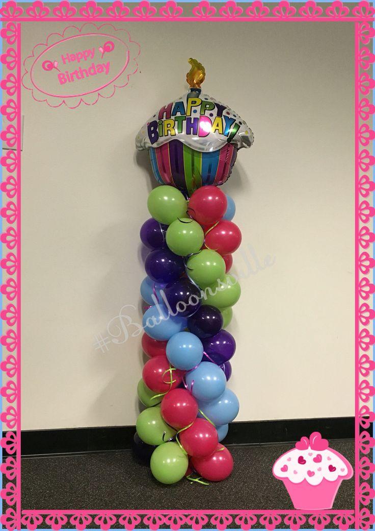 how to make a spiral balloon column