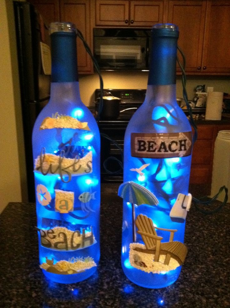 Decorated wine bottles #decoratedwinebottles