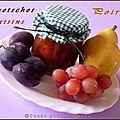Confiture de quetsches, raisins et poire à l'agar-agar (thermomix) - Pause gourmandises