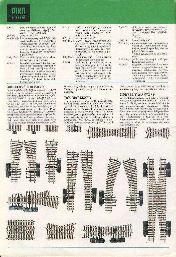 Naše malá železnice | Staré katalogy modelové železnice