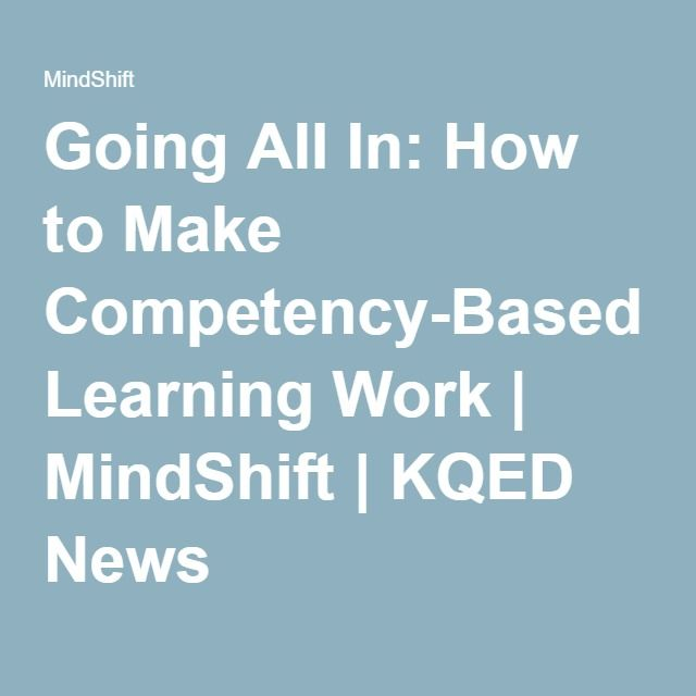 news competency based learning personalized