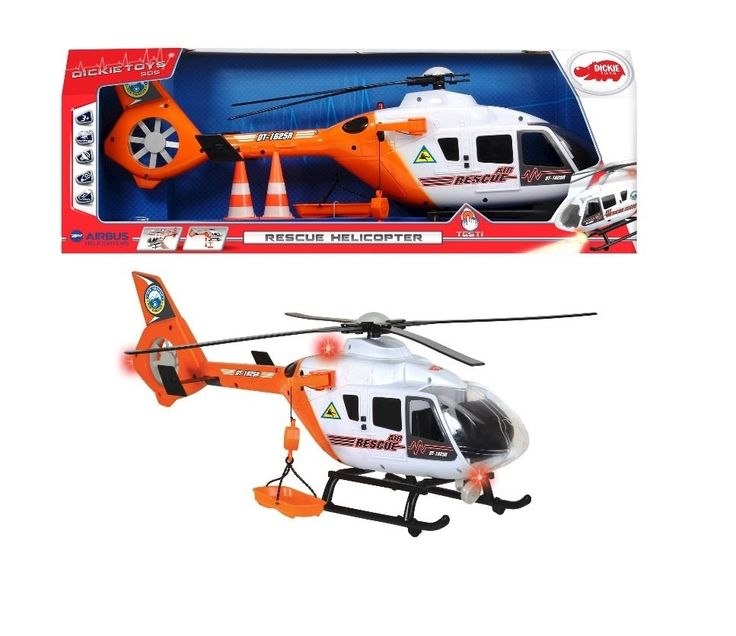 "Dickie Toys - 24""Light and Sound SOS Rescue Helicopter w/ Moving Rotor Blades (20 371 9004)"