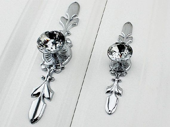 Glass Drawer Knob Pull Crystal Dresser Knobs Pulls Handle