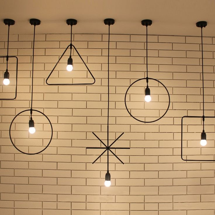 Modern Loft Industrial Ceiling Lamp Geometric Character Restaurant Bar Light  Fixture Irregular Shape Coffee Shop Ceiling