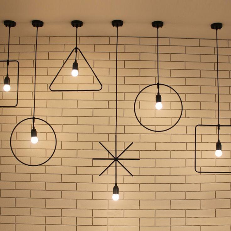 Modern Loft Industrial Ceiling Lamp Geometric Character Restaurant Bar Light Fixture Irregular Shape Coffee Shop Ceiling Light-in Ceiling Lights from Lights & Lighting on Aliexpress.com   Alibaba Group