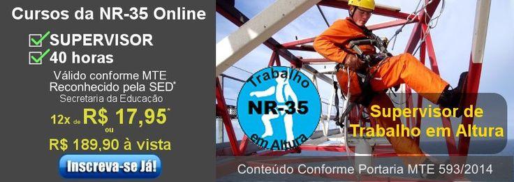 Curso NR-35 Supervisor de Trabalho em Altura Online