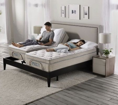 sleep number split king size premium adjustable bed set - Bed Frames For Adjustable Beds