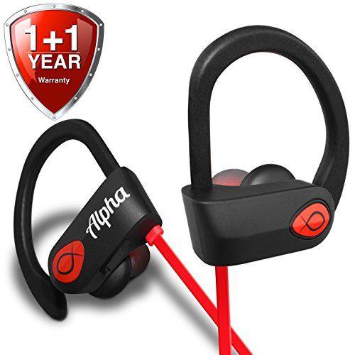 Bluetooth Headphones Best Wireless Sports Earbuds Workout Earphones w/ Mic - 8 Hour Battery Noise Cancelling Headsets - IPX7 Waterproof