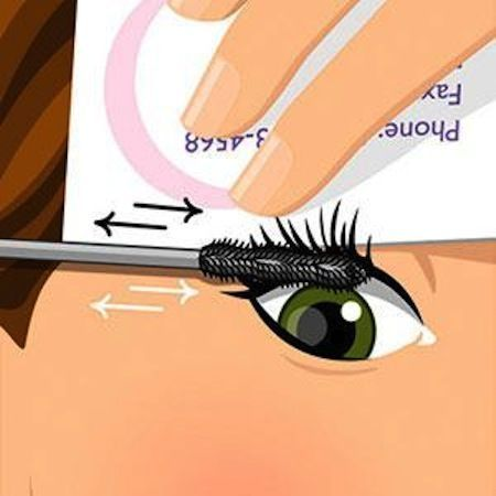 """32 Makeup Tips That Nobody Told You About """"When applying mascara, hold a business card behind your lashes and apply it in a back and forth motion starting at the roots. You can really put it on this way, coating every lash fast!"""" Always forget about this....<<<< Pin now read later"""