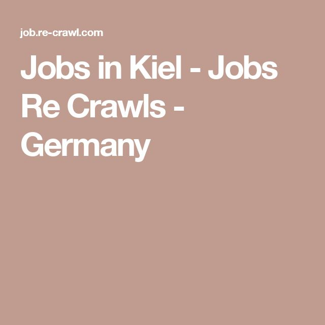 Jobs in Kiel - Jobs Re Crawls - Germany