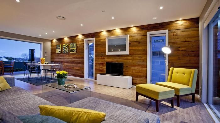The infamous wooden wall at Ben & Libby's home renovation on season 1 of The Block NZ. Building work by our team at Haven Renovations. Visit www.havenrenovations.co.nz