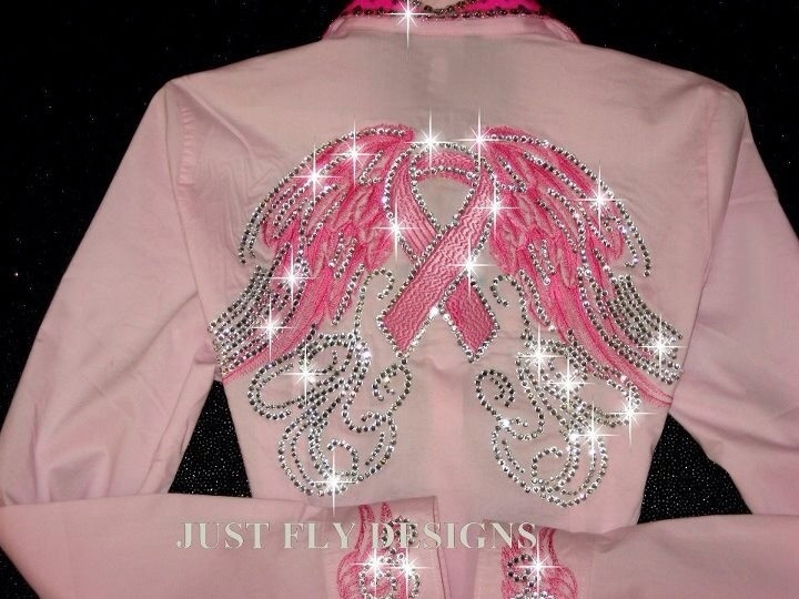 Just Fly Designs Breast Cancer Awareness Rodeo Queen Shirt