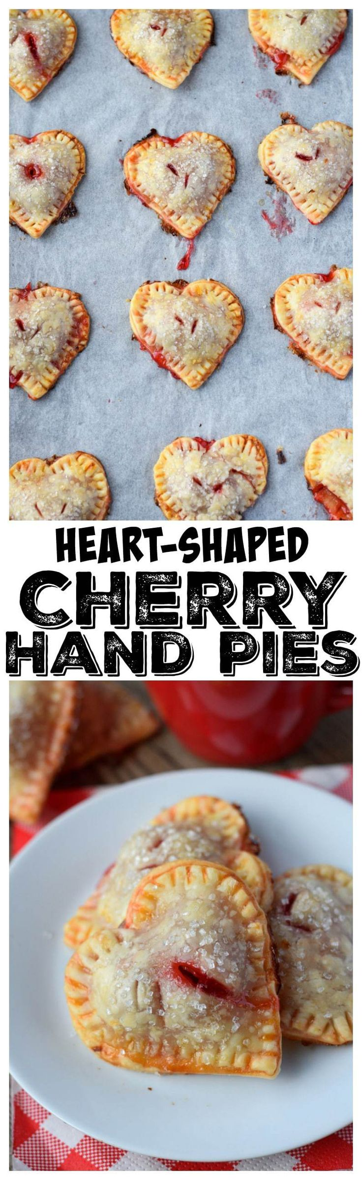 These Heart Shaped Cherry Hand Pies are not only adorable but delicious. Super easy to make and perfect size for any party.