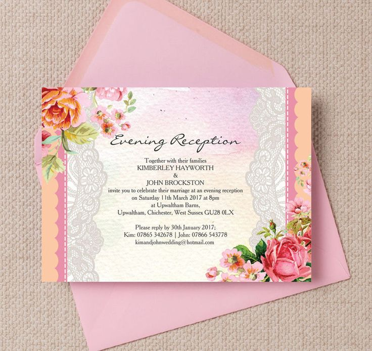 The 61 best beautiful evening wedding reception invitations images pastel watercolour evening reception invitation stopboris Images