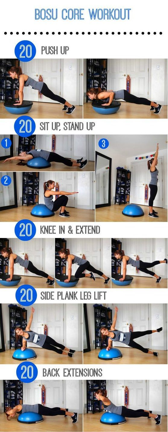 "If you're sick and tired of doing endless crunches and never seeing any results, then this workout is for you! You deserve to get more out of your ab workout.  The Stability Ball has been a part of home fitness essentials for over a decade, but the Bosu Ball is slowly creeping into that category. It's part platform and part stability ball, making it the perfect tool to challenge any fitness lover.    According to Dr. Joseph Mercola, Bosu stands for ""both sides up"" since both sides of this…"