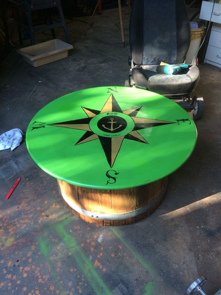 Wine vat coffee table