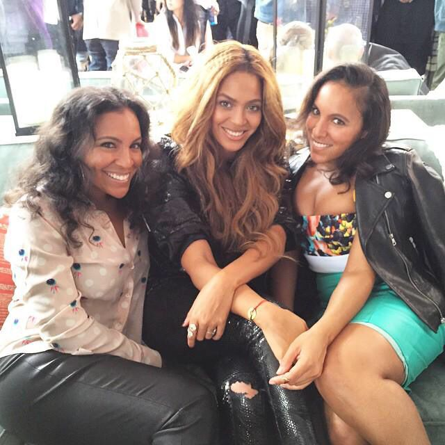 Twins Shay and Ninah Boom with Beyoncé at Pre Grammys Roc Nation Brunch in Los Angeles, February 7th 2015