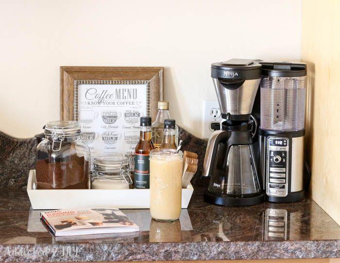 how to make a simple coffee station / Ninja Coffee Bar / addicted2diy.com