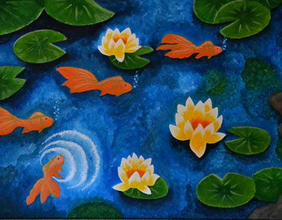 """Check out new work on my @Behance portfolio: """"Goldfish in a pond"""" http://on.be.net/1K0YdjG"""
