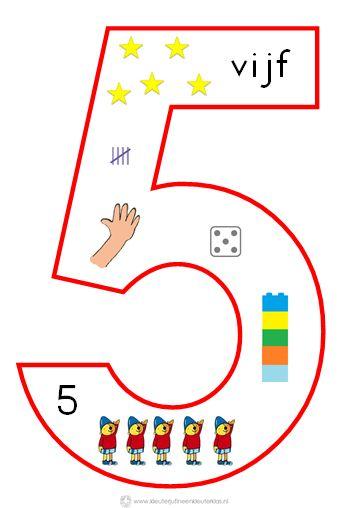 * Cijfersymbolen om in de klas te hangen | Beginnende gecijferdheid. 5-9