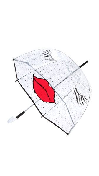 The cutest umbrella against April Showers // Felix Rey Kissy Face Umbrella