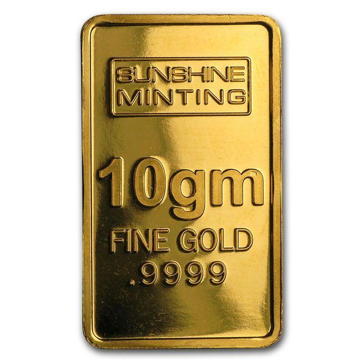 10 Gram Gold Bar Sunshine Minting Sku 50292 H Bar Gold Gram Minting Riqueza Sku50292 Sunshine Gold Bar Gold Bars For Sale Gold Money