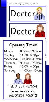 Doctors Surgery role-play pack (SB368) - SparkleBox