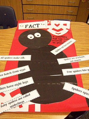 Spider facts... I can see this being done with Diary of a Spider... facts on the legs and opinions on the belly.