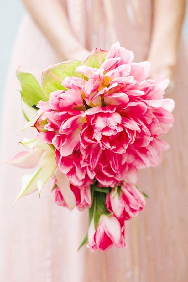 Modern Bouquet w/ Parrot Tulips