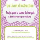 FREE procedural writing activity for French class based on NicoleB's English template.