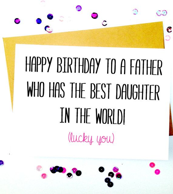 Funny Father Daughter Birthday Card/Birthday by LailaMeDesigns