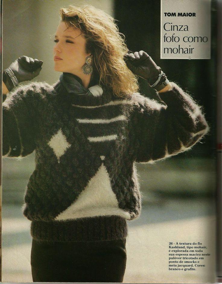 Mania-de-Tricotar: Lindo pulôver feminino!!!