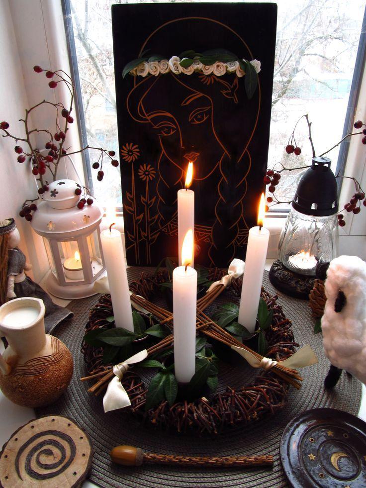 Imbolc altar 2017 / Brigid altar