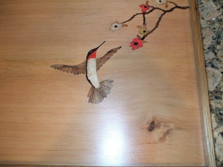 Creativebark marquetry humming bird tray jim rogers
