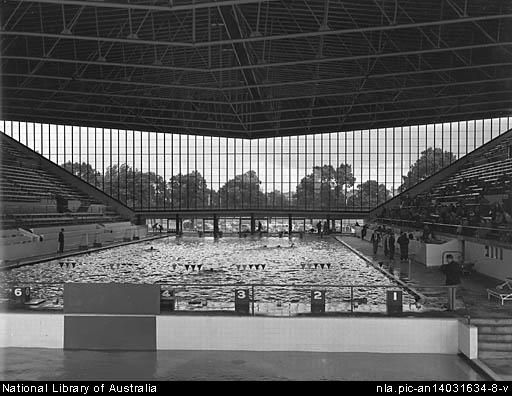 Melbourne Olympic Pool - which later became the Melbourne Sports and Entertainment Centre in the 1980s.