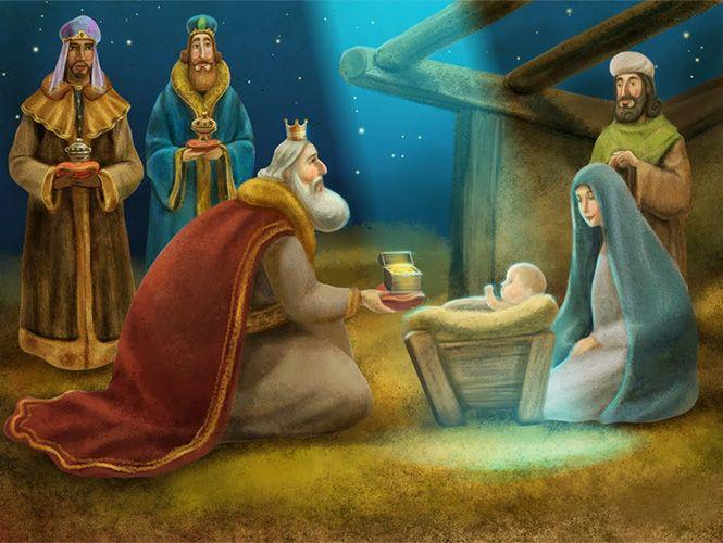 Resultado de imagen para dibujos de la adoracion de los reyes magos