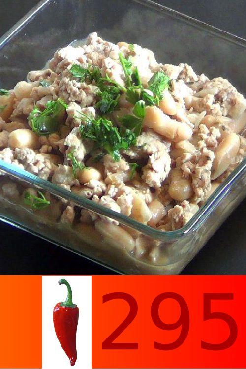 Chili di pollo e cannellini. 295 calorie. Solo su www.strabuon.org